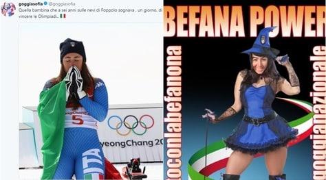 Olimpiadi, tutti con Sofia Goggia: #iostoconlabefanona
