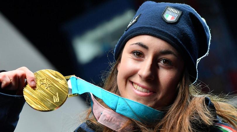 Olimpiadi, complimenti social per Sofia Goggia