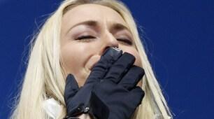 Discesa libera, Vonn: bronzo e lacrime sul podio