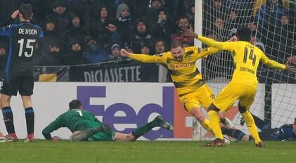 Atalanta-Borussia Dortmund 1-1:Schmelzer spegne il sogno bergamasco