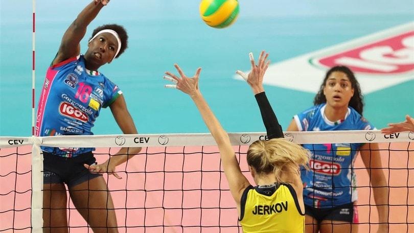 Volley: Champions League, Novara supera il Fenrbahce, primo posto ancora possibile