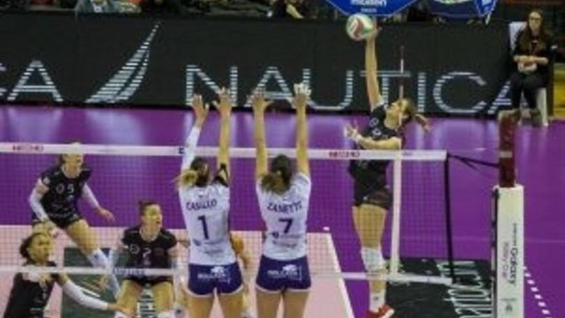 Volley: A2 Femminile, Perugia fa lo sgambetto alla Battistelli