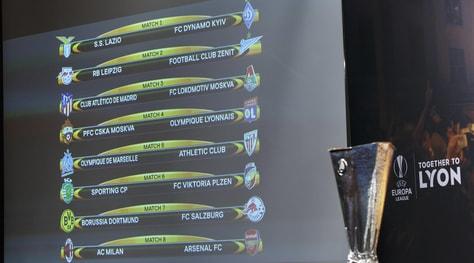 Ottavi Europa League: Lazio-Dinamo Kiev e Milan-Arsenal