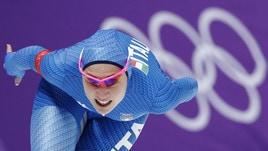 Olimpiadi, pattinaggio velocità:  Lollobrigida d'oro a 7,50