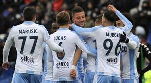 Milinkovic-Savic e Immobile, la Lazio festeggia: 3-0 a Sassuolo