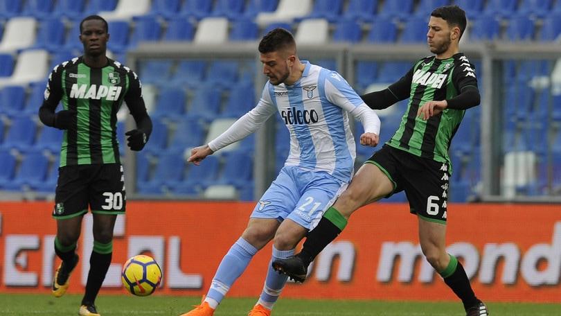 Serie A Sassuolo-Lazio 0-3, il tabellino
