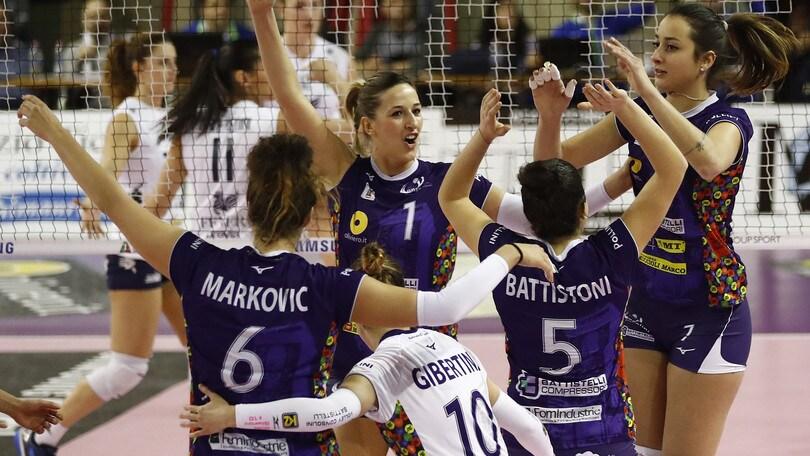 Volley: A2 Femminile, successi per Mondovì e Battistelli, in testa tutto immutato