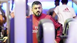 """La neve """"ingabbia"""" Gattuso: allenamento in palestra per il Milan"""