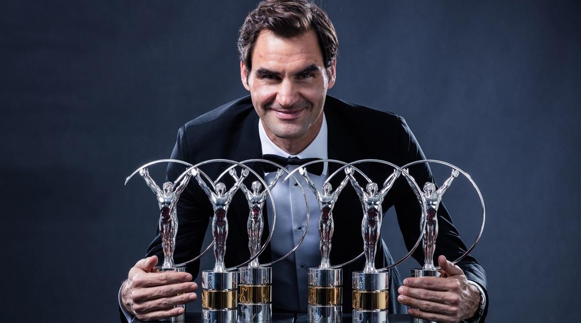 """A Montecarlo il fuoriclasse svizzero arriva a quota sei statuette in bacheca con il premio per """"sportivo dell'anno"""" e """"ritorno dell'anno"""" scavalcando Nadal e Ronaldo"""