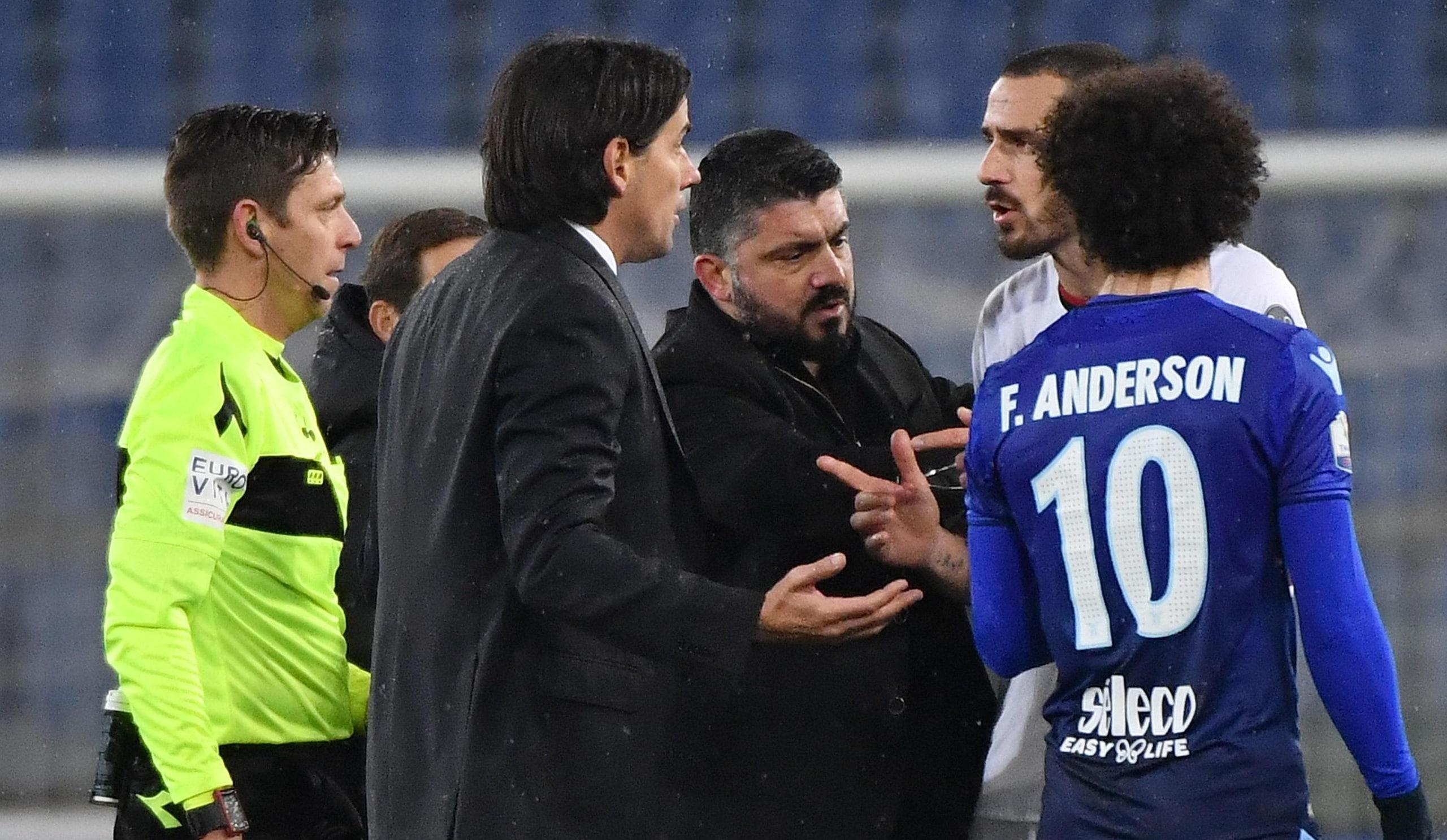 Bonucci e Inzaghi, scintille all'Olimpico