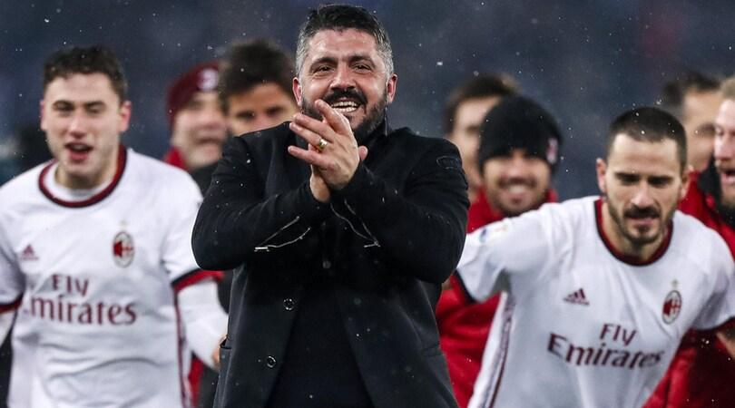 Milan, Gattuso: «Non sono un guru, il merito è anche di Montella»