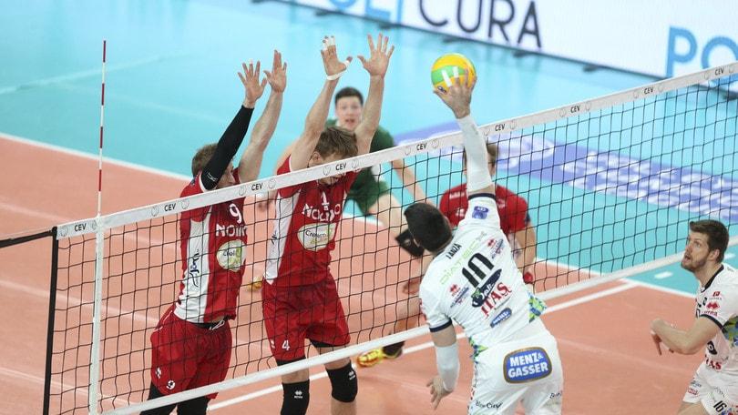 Volley: Champions League, Trento supera il Noliko ed è seconda nella Pool E