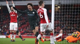 Arsenal-Manchester City 0-3: Guardiola vola a +16 sullo United