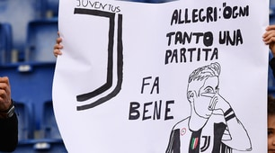 Lazio-Juventus: quanti striscioni per Dybala!