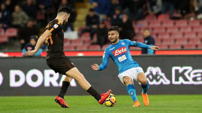 Serie A Napoli-Roma 2-4, il tabellino