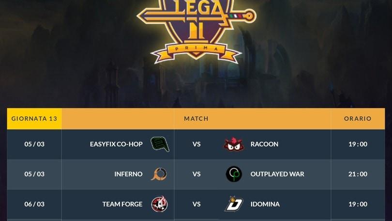 Lega Prima: Team Forge vs iDomina eSports è scontro fra titani!