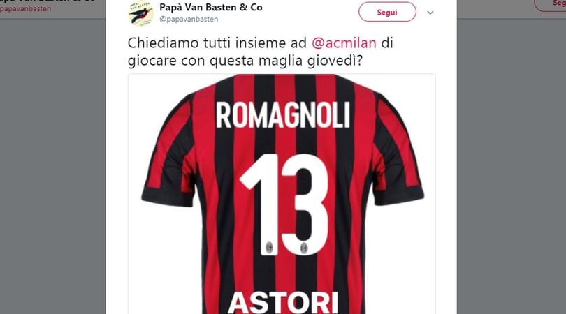 I tifosi del Milan: «Contro l'Arsenal in campo con una maglia speciale per Astori»