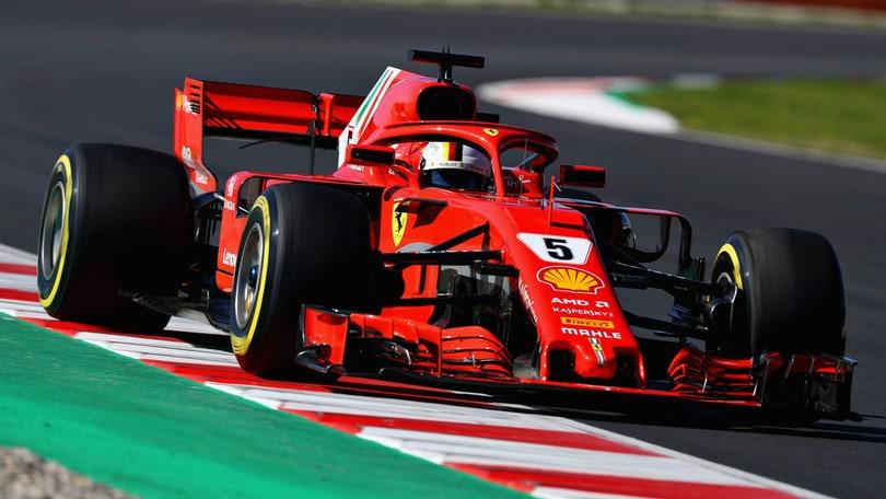F1, test Barcellona: al mattino la spunta Vettel