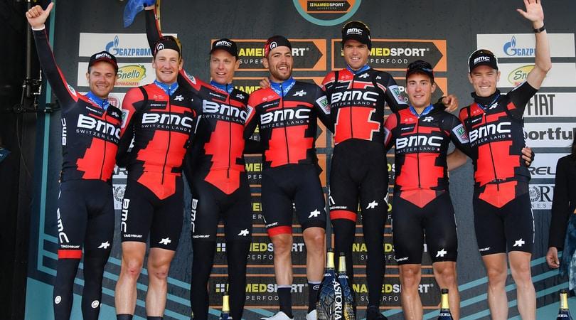 Ciclismo, la Bmc vince la prima tappa della Tirreno-Adriatico
