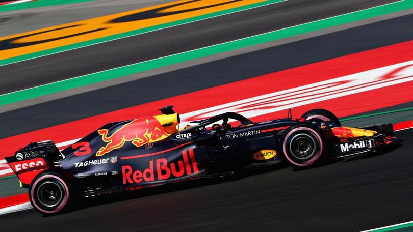 F1, test Barcellona: dominio Ricciardo