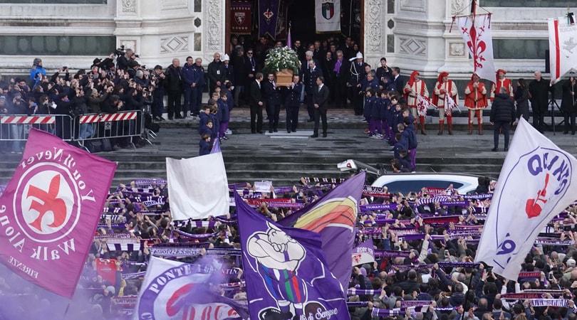 Funerali Astori, l'addio a Firenze