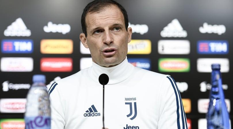 Juventus, Allegri: «Pochettino? La dirigenza viene sempre nel nostro spogliatoio»