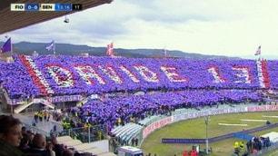 Fiorentina-Benevento, al 13' un minuto di stop per ricordare Astori