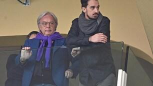 Fiorentina, il fratello di Astori allo stadio con Diego della Valle