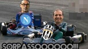 Il Napoli perde la vetta e i tifosi della Juve si scatenano: «Grazie Inter»