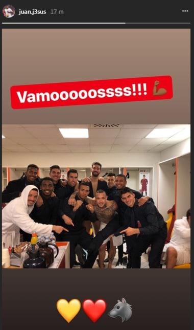 Una carrellata con tutti i tweet e le foto su Instagram pubblicate dai calciatori giallorossi dopo la vittoria contro lo Shakhtar