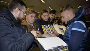 Europa League, la Lazio firma autografi a Kiev