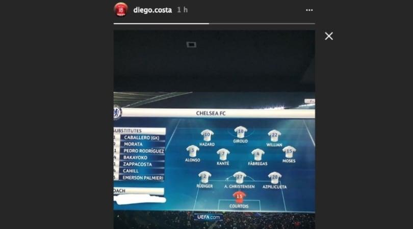 """Barcellona-Chelsea, Diego Costa """"cancella"""" Conte dalla formazione"""