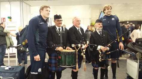 Scozia, che accoglienza a Fiumicino!