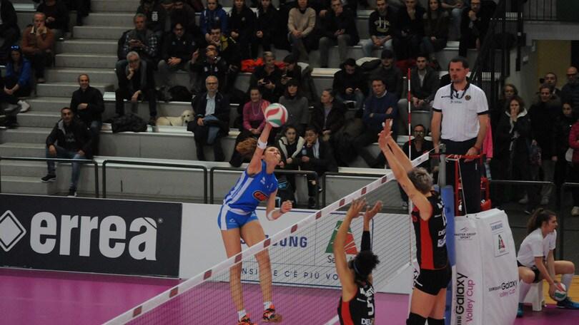Volley: A2 Femminile, il Club Italia riprende a correre, battuta Ravenna