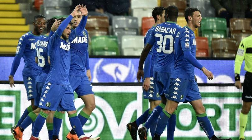 Serie A, Udinese-Sassuolo 1-2: Sensi allontana Iachini dalla zona retrocessione
