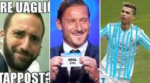 La Spal ferma la Juventus: i social si scatenano