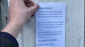 Sitin dei tifosi della Lazio davanti alla FIGC