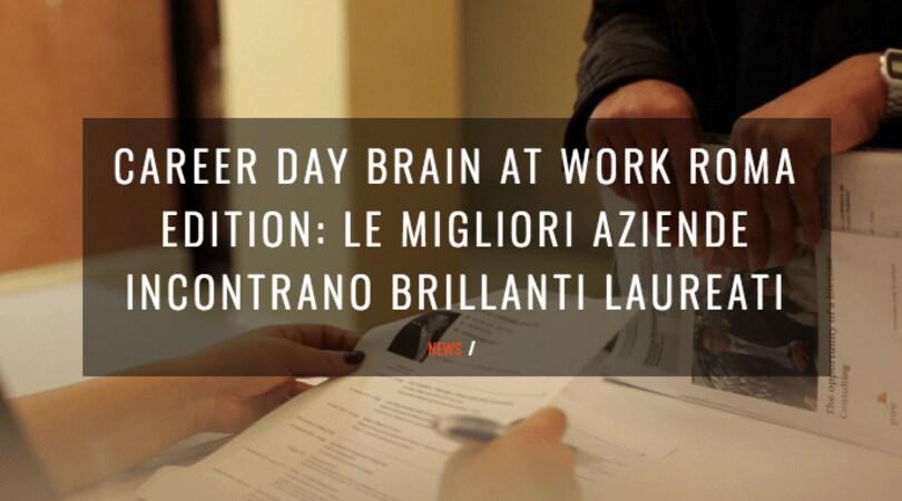 """""""Le professioni nel mondo dello sport"""" a Brain at Work Roma Edition"""