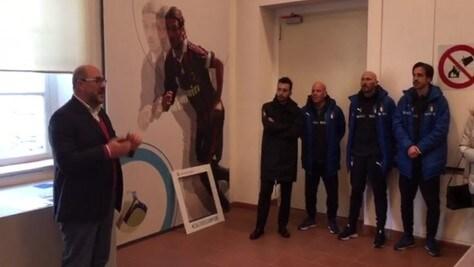 La Nazionale Under 18 visita la mostra Mito del calcio a Biella