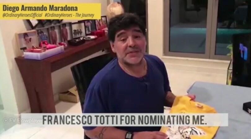 Maradona ringrazia Totti e rilancia OrdinaryHeroes