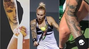 Polona Hercog, la tennista più tatuata del Miami Open