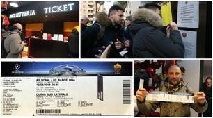 Roma-Barcellona, lunghe file agli Store per l'inizio della vendita libera