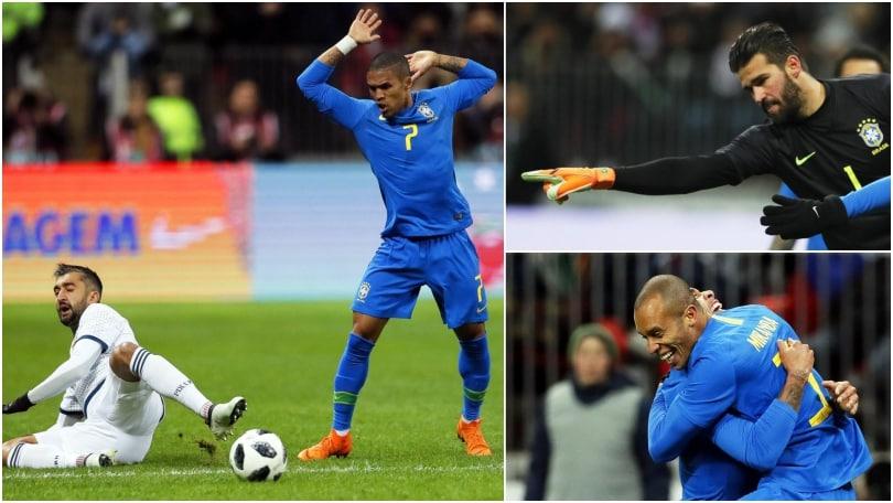 Russia-Brasile 0-3: Alisson, Miranda e Douglas Costa protagonisti a Mosca
