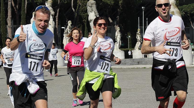 C'è laRomaDerbyRun nella Roma Appia Run