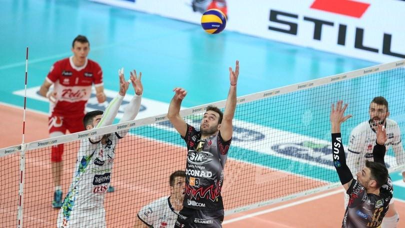 Volley: Superlega, domenica Gara 2 di Semifinale a Trento e Modena
