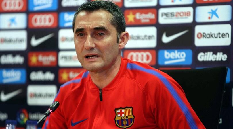 Valverde: «Messi in dubbio, sente ancora un piccolo fastidio»