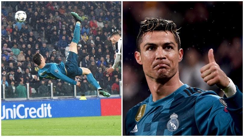 Juventus-Real Madrid, il gol da urlo in rovesciata di Cristiano Ronaldo