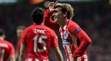 Europa League: poker Arsenal, 2-0 Atletico Madrid. Garcia ko