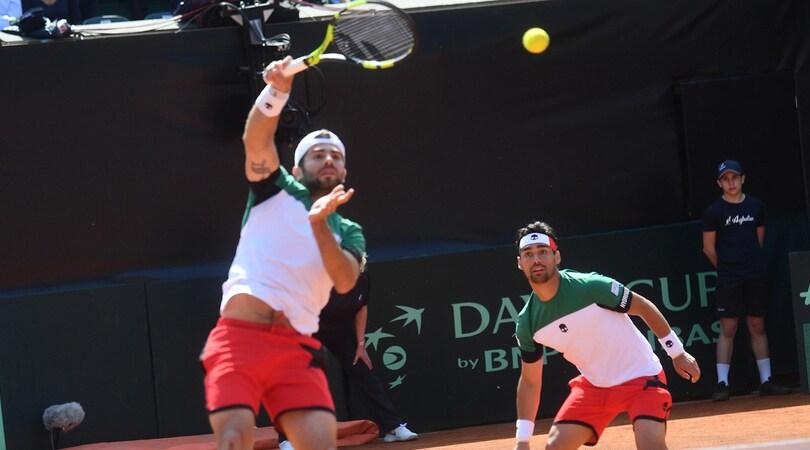 Coppa Davis, Italia ko nel doppio: 1-2