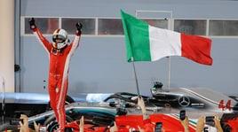 F1 Bahrain, che festa sul podio per Vettel